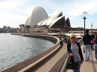 Gail at Sydney Opera House