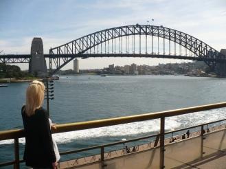 Gail looking at Sydney Harbour Bridge