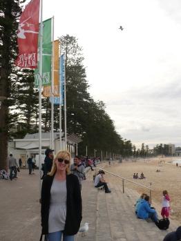 Gail at Manly Beach
