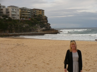 Gail on Manly Beach