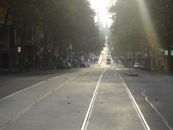 7:30am and the streets are deserted.