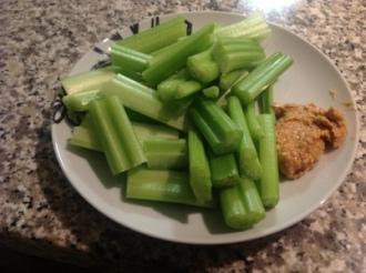 Meal Four - Raw celery, peanut butter