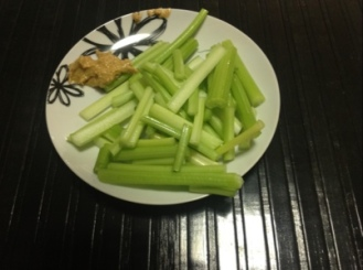 Meal Two - Celery and Peanut Butter