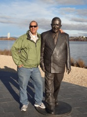 Me and RG Menzies (He's a bit brassed off)