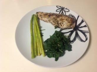 Meal Three - Chicken, Spinach & Asparagus