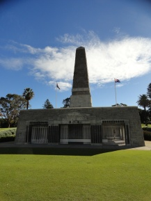War memorial in Kings Park overlooking Perth.