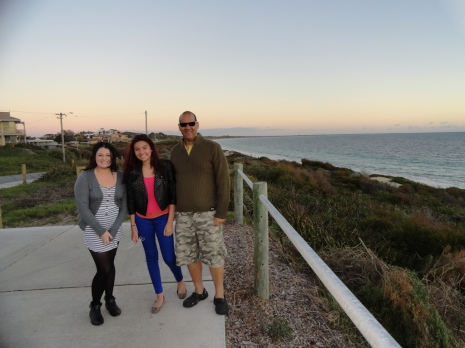 Nicola, Ciara and me at the beach.