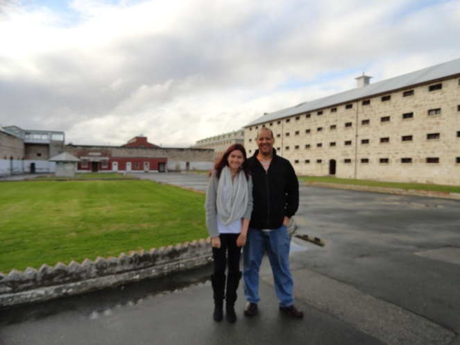 Outside the main prison block