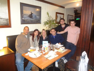 Ciara and me at The Boat with Lisa, Paul, Tom & Adam.