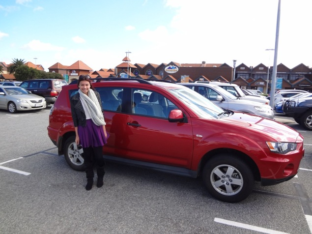 Ciara and our hire car.
