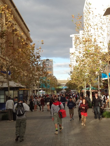 Murray Street, one of the main shopping areas in Perth.