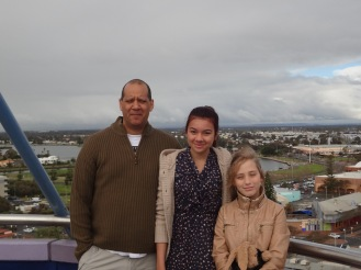 On top of the viewing tower overlooking Bunbury.