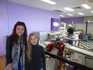 Ciara and Jo at the lolly shop