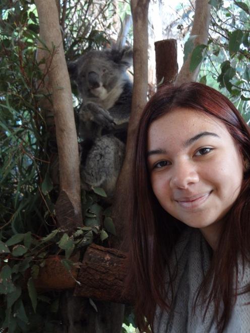 Ciara with a NSW Koala