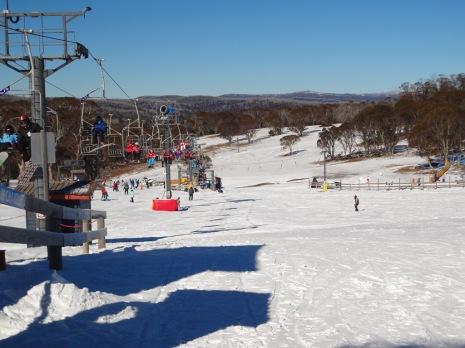 Plenty of snow on the slopes.