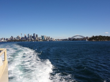 On the ferry going to Taronga Zoo