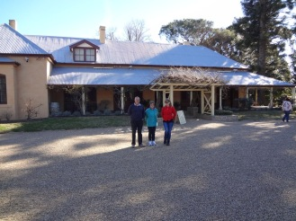 Outside the Lanyon Homestead.