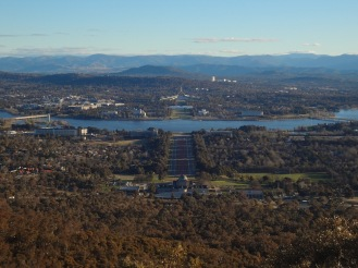 Great view from Mt. Ainslie