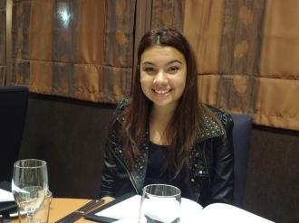Ciara at the table