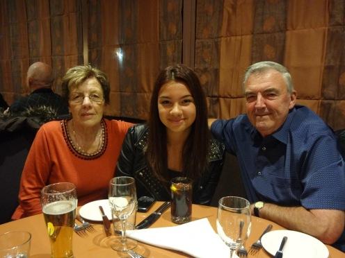 Ciara with Granny and Grandad