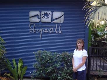 Gail outsie the Skywalk entrance.