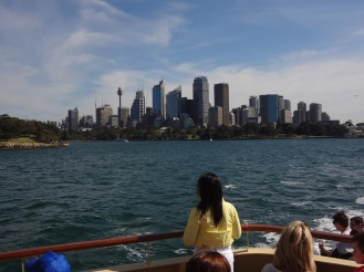 Looking back towards central Sydney from the ferry