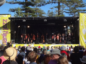 Main stage at the Manly Jazz Festival