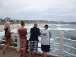 Enjoying the view at Bondi Beach