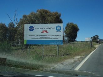 The entrance to the NASA Tracking Station a Tidbinbilla