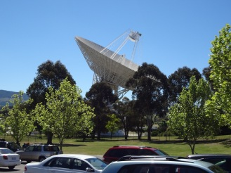 The massive 70 metre tracking dish
