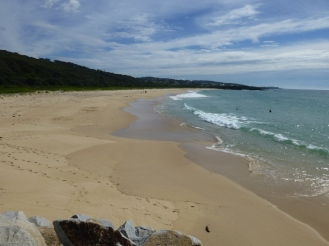 On of the many beaches at Narooma