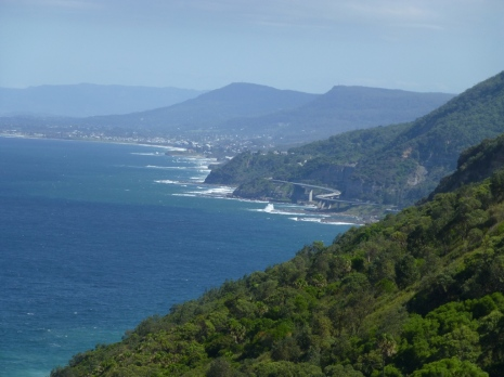 The famous Sea Cliff Bridge on the Grand Pacific Drive near Coalcliff.