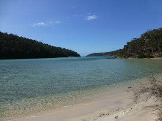 Severs Beach on the Pambula lake inlet.