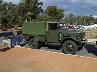 An old military truck
