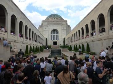 The closing ceremony inside the War Memorial.