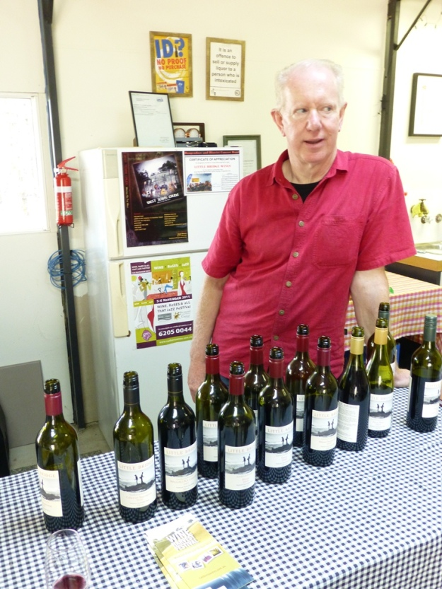 John explains some of the wines.