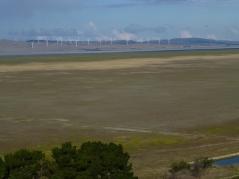 Windfarm on the far shoreline