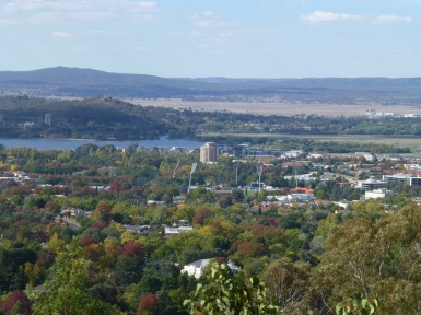 Manuka Oval taken from the top of Red Hill