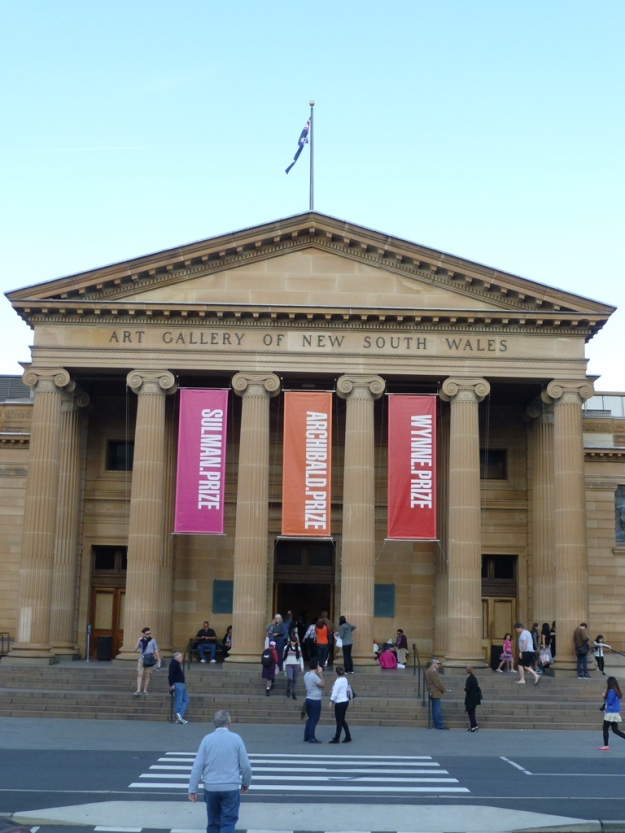 The outside of the the Art Gallery of New South Wales.