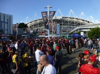 Outside the Allianz Stadium.