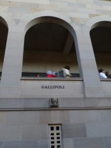 The Gallipoli Window inside the Commemorative Area