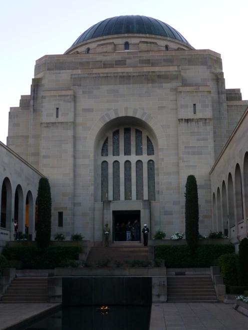 Honour guard in the Commemorative Area