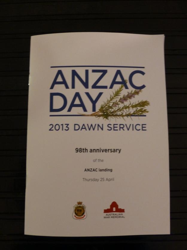 ANZAC Day Programme