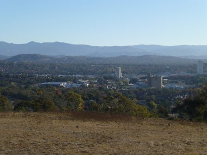 Woden CBD from the top of Red Hill