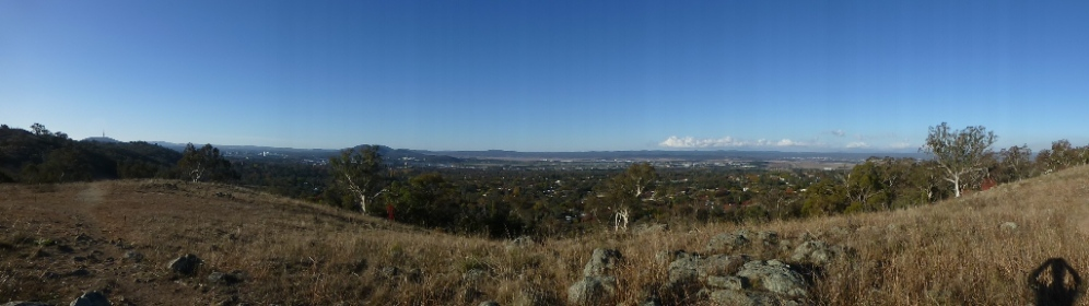 Panaroma of Fyshwich from the top of Red Hill.
