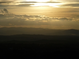 Canberra sunset over the Brindabella's