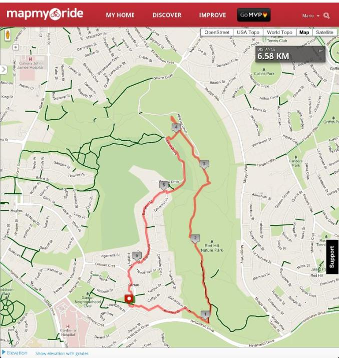 Red Hill Walk on MapMyRide