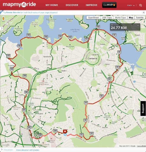 My Nemesis Route on MapMyRide.