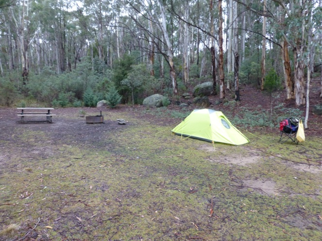 My tent all on it own in the camp site.