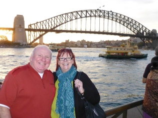 Barbara & Lawrence with the Harbour Bridge